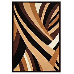 United Weavers Cafe Frappe Novelty Geometric Area Rug