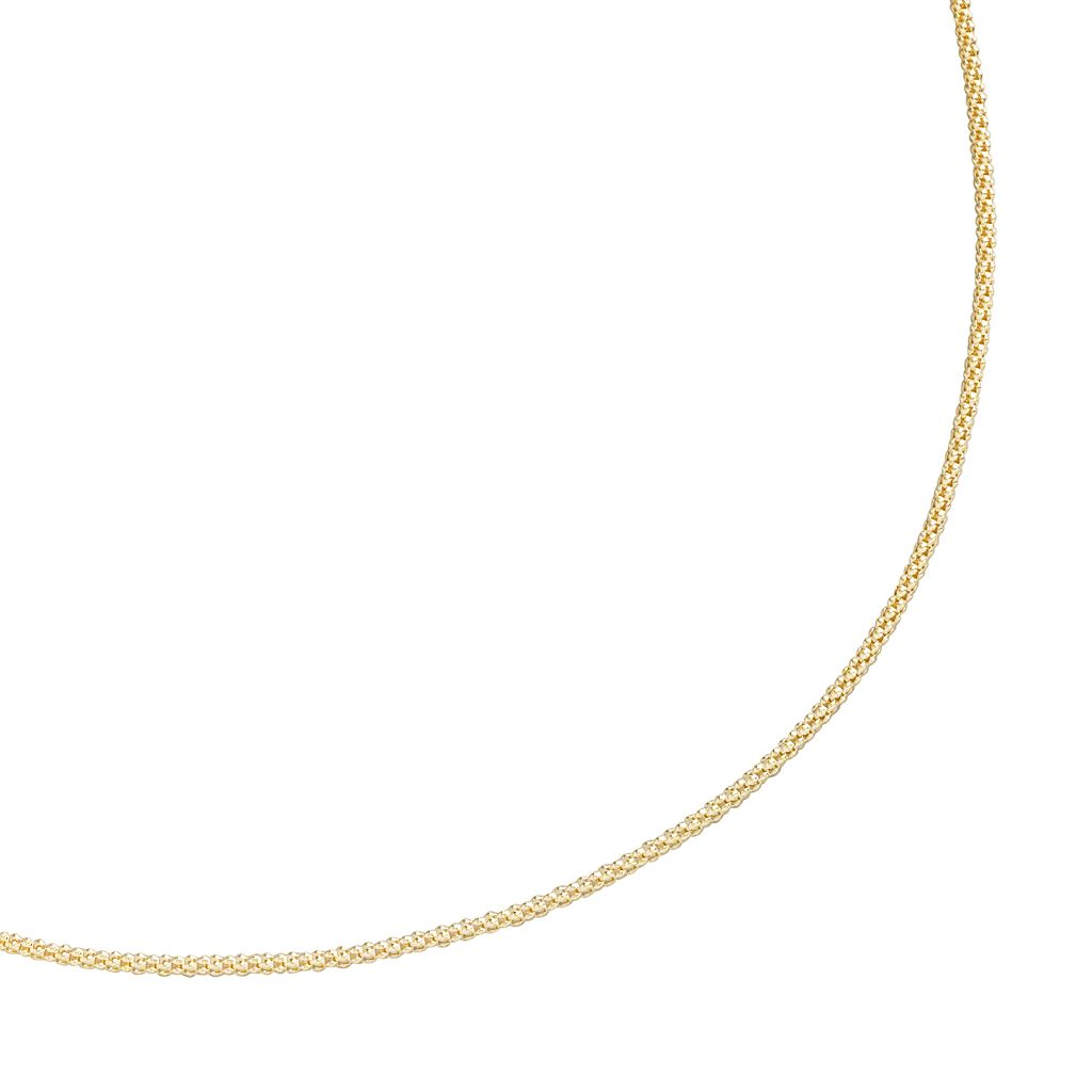 24k Gold-Over-Silver Curb-Chain Necklace