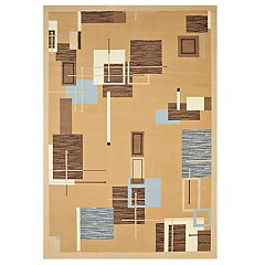 United Weavers Cafe Barista Novelty Geometric Area Rug