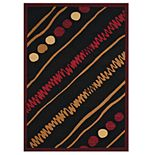 United Weavers Cafe Crumpets Swirl and Dots Geometric Area Rug