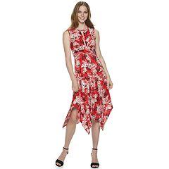 Women's Apt. 9® Twist-Front Hanky-Hem Midi Dress