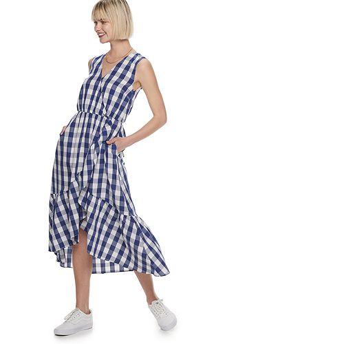 Women's POPSUGAR Asymmetrical Ruffle Hem Dress