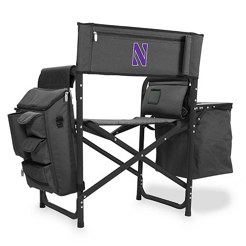 Picnic Time Northwestern Wildcats Fusion Backpack Chair with Cooler