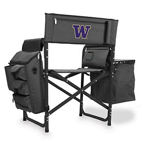 Picnic Time Washington Huskies Fusion Backpack Chair with Cooler