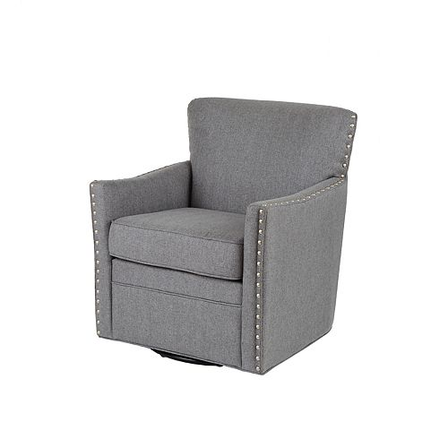 Madison Park Farina Herringbone Texture Swivel Chair