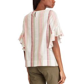 Women's Chaps Ruffle Sleeve Blouse