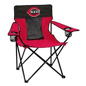 Logo Brands Cincinnati Reds Elite Portable Folding Chair