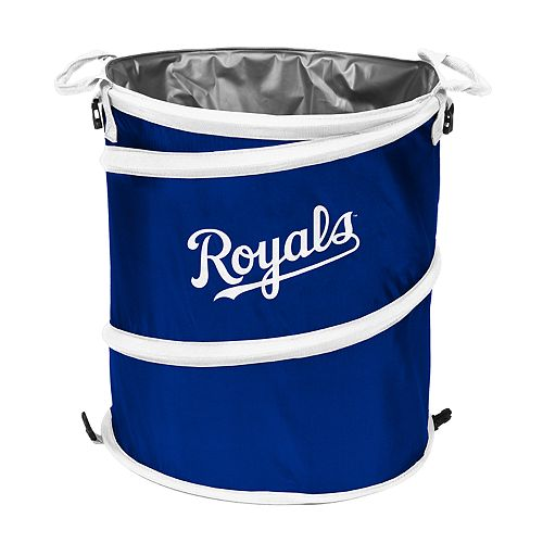 Logo Brands Kansas City Royals Collapsible 3-in-1 Trashcan Cooler
