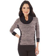 Petite Apt. 9® Lace Cowlneck Sweater