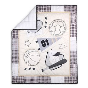 The Peanut Shell Sports League 3 Piece Crib Bedding Set