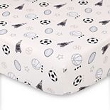 The Peanut Shell Sports Icons Fitted Crib Sheet