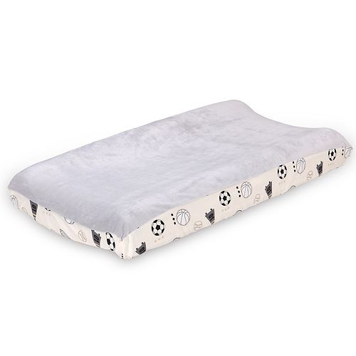 The Peanut Shell Sports League Changing Pad Cover