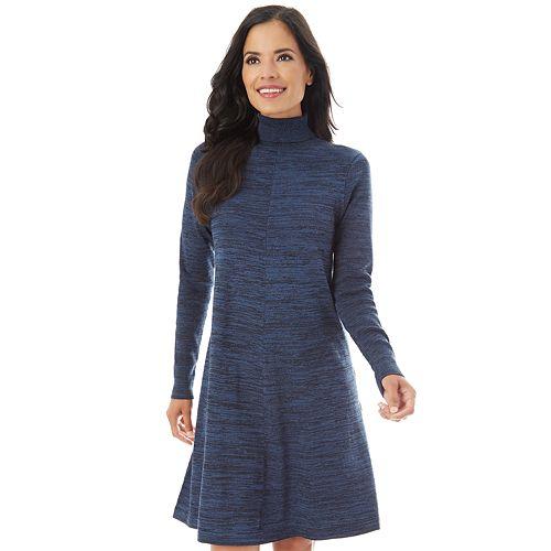 59839a8d27cb Petite Apt. 9® Turtleneck Swing Sweater Dress