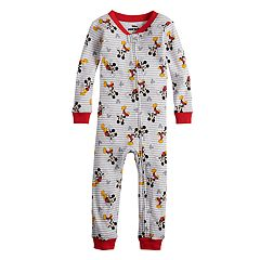428aaae14 Construction Striped Footed Pajamas. (9) · Disney's Mickey Mouse Toddler  Boy Coveralls