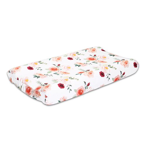 The Peanut Shell Rose Changing Pad Cover