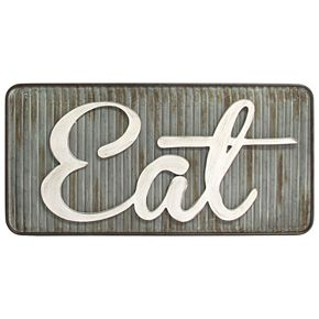 """Stratton Home Decor Retro """"Eat"""" Wall Decor"""