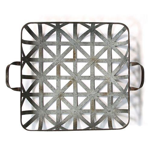 Stratton Home Decor Basket Weave Metal Wall Decor