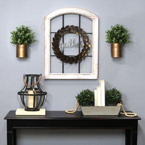 "Stratton Home Decor ""Gather"" Window Pane Wall Decor"