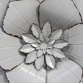 Stratton Home Decor Gray Flower Wall Decor