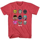Boys 8-20 Fortnite Chibi Heads Grid Tee