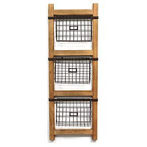 Stratton Home Decor Storage Basket & Ladder Wall Decor 4-piece Set