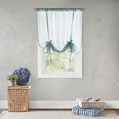 Intelligent Design Kara Vertical Tie-Up Sheer Window Curtain