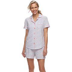 Women's Croft & Barrow® Sleep Shirt & Pajama Shorts Set