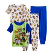 Toddler Boy Paw Patrol Chase, Marshall, Rubble & Tracker Tops & Bottoms Pajama Set