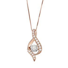 Sirena Collection 14k Rose Gold 3/8 Carat T.W. Diamond Pendant