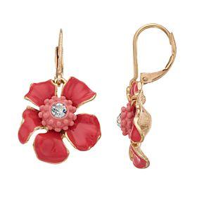 Dana Buchman Flower Drop Leverback Earrings