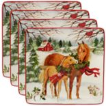 Certified International Christmas on the Farm 4-pc. Dinner Plate Set