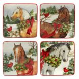 Certified International Christmas on the Farm 4-pc. Canape Plate Set
