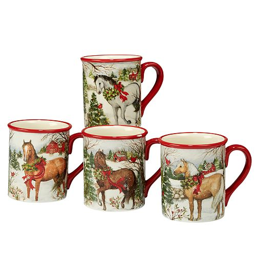 2f550eee266 Certified International Christmas on the Farm 4-pc. Mug Set