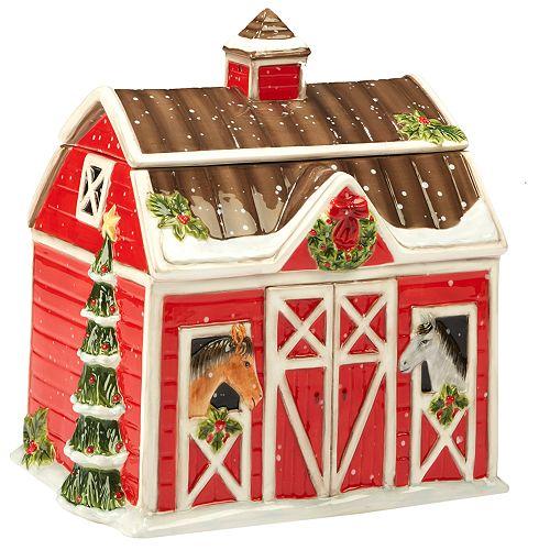 Certified International Christmas on the Farm 3D Cookie Jar