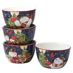Certified International Starry Night Snowman 4-pc. Ice Cream Bowl Set