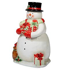 Certified International Starry Night Snowman 3D Cookie Jar