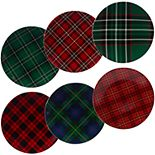 Certified International Christmas Plaid 6-pc. Dinner Plate Set