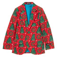 Boys 8-20 OppoSuits Christmas Tree Blazer