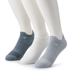Men's New Balance 3-pack Flat-Knit Double Tab Performance Low-Cut Socks