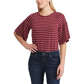 Women's Chaps Solid Short Sleeve Knit Top