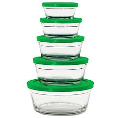 Farberware 10-pc. Glass Food Storage Bowl Set