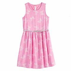69dc7c81efcd0 Girls 7-16   Plus Size SO® Belted Skater Dress