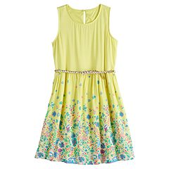 6d240fea9 Girls 7-16 & Plus Size SO® Belted Skater Dress. White Blue Navy Yellow Pink