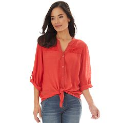 5a0f6aaa Womens Clearance Button-Down Shirts | Kohl's