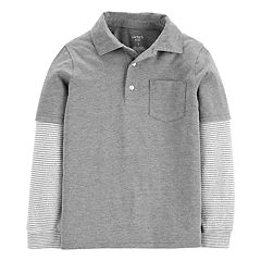 Boys 4-14 Carter's Mock Layer Pocket Polo