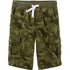 Boys 4-14 Carter's Camo Dinosaur Cargo Shorts