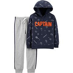 Boys 4-8 Carter's 'Captain' Sporty Pullover Hoodie & Jogger Sweatpants Set