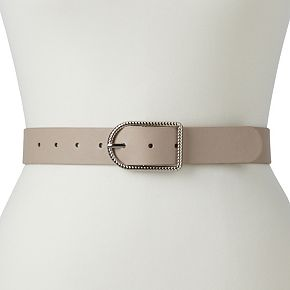 Women's Apt. 9® Textured-Buckle Belt