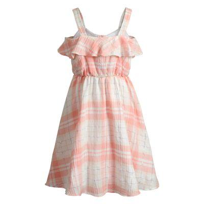 Girls 7-16 Emily West Plaid Ruffle Dress