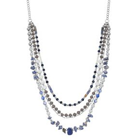 SONOMA Goods for Life? Multi Beaded & Stones Layered Necklace